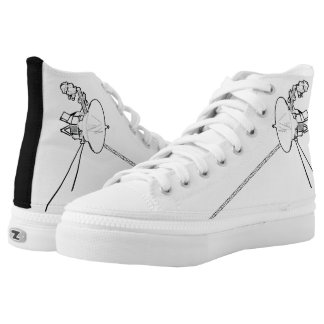 Voyager Spacecraft High Top Printed Shoes