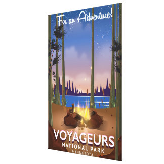 Voyageurs National Park Minnesota travel poster Canvas Print