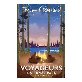 Voyageurs National Park Minnesota travel poster Stationery