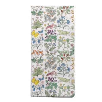 Voysey Apothecary Garden Pattern Napkin Set
