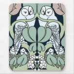 Voysey Art Nouveau Owl sNest Pattern Mouse Pad