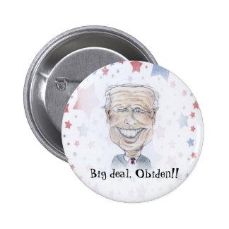 VP Joe Biden caricature Pinback Buttons