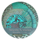 VPQ - Shades of Teal Plate