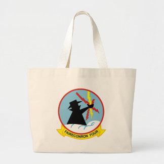 VQ-4 Shadows Large Tote Bag