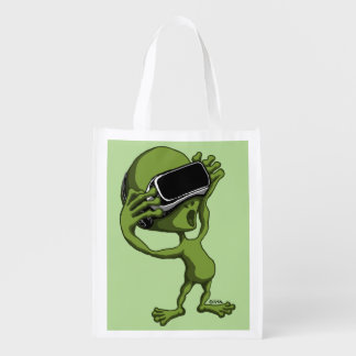 VR Alien Reusable Grocery Bag