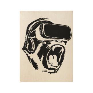 VR Gorilla Wood Poster