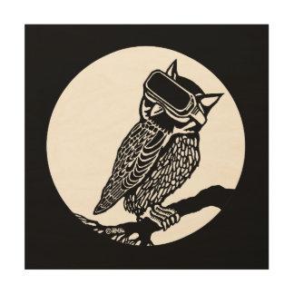 VR Owl Wood Wall Art