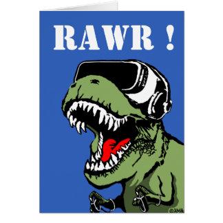 VR T-rex Card