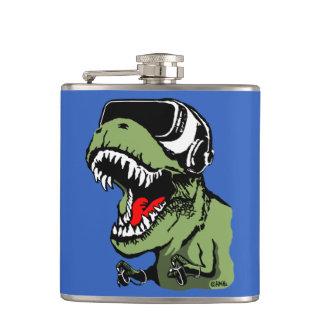 VR T-rex Hip Flask
