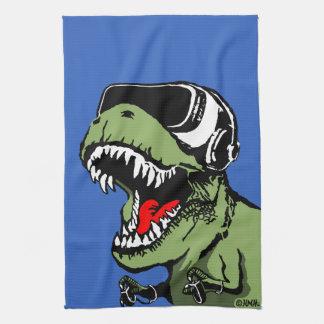 VR T-rex Tea Towel