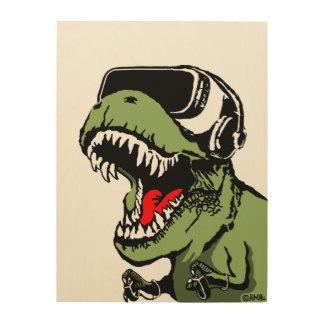 VR T-rex Wood Wall Decor