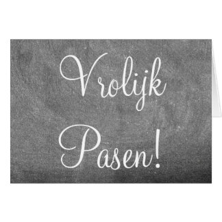 Vrolijk Pasen Dutch Happy Easter Chalkboard Card