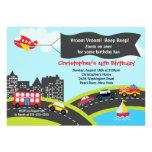 Vroom Beep Cars Birthday Party Invitation