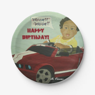"""Vroom, Vroom!"" Birthday Party Paper Plates 7"""