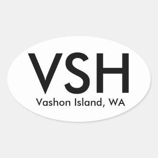 VSH - Vashon Island, WA Oval Sticker