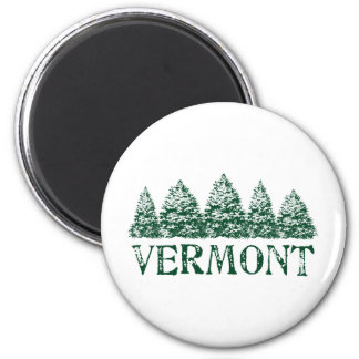 VT Winter Evergreens Magnet