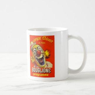 Vtg Clown Circus Poster Coffee Mug Cirque d'Hiver