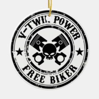 VTWIN POWER FREE BIKER CERAMIC ORNAMENT