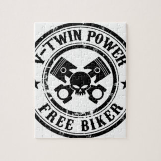 VTWIN POWER FREE BIKER JIGSAW PUZZLE