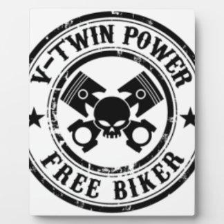 VTWIN POWER FREE BIKER PLAQUE