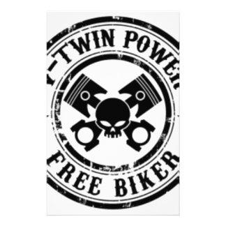 VTWIN POWER FREE BIKER STATIONERY