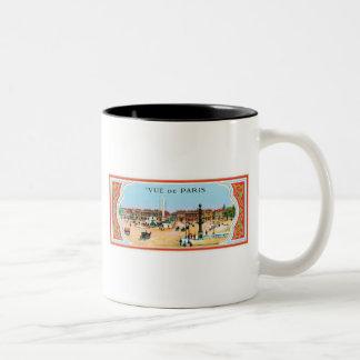 Vue De Paris Two-Tone Coffee Mug