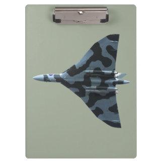 Vulcan bomber in flight clipboard