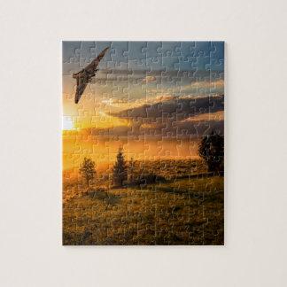 Vulcan Bomber Misty Dawn Jigsaw Puzzle