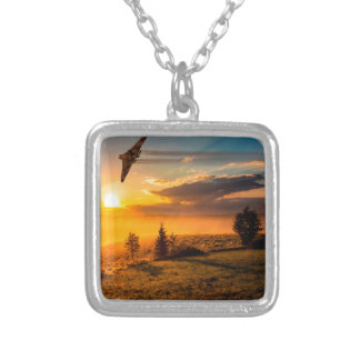 Vulcan Bomber Misty Dawn Silver Plated Necklace