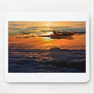 Vulcan bomber sunset sortie mouse pad