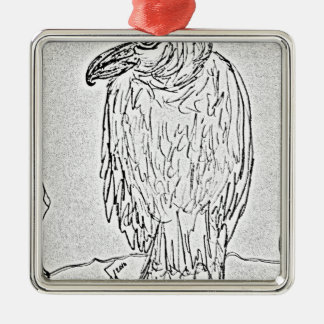 vulture metal ornament