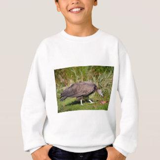 Vulture on grass sweatshirt