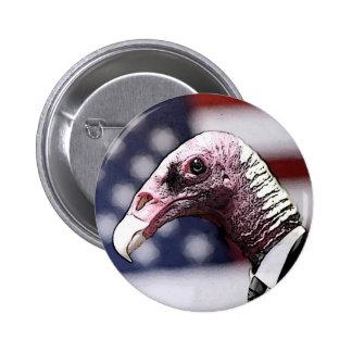 Vulture Politician Button