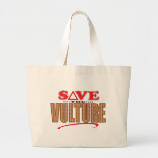 Vulture Save Large Tote Bag