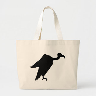 Vulture Sitting Large Tote Bag