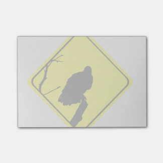 Vulture Warning Sign Love Bird Watching Raptors Post-it Notes