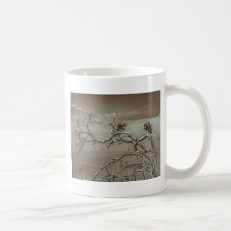 Vultures at Top of Leaveless Tree Coffee Mug