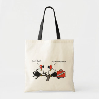 Vultures Carrion Carry-On Luggage Cartoon Tote Bag