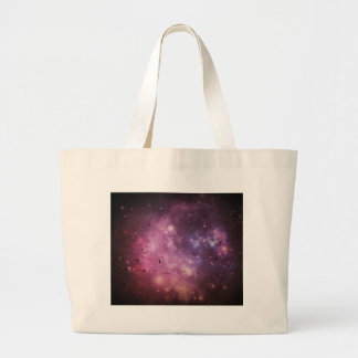 vultures in outerspace large tote bag