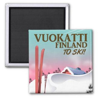 Vuokatti Finland ski poster Magnet