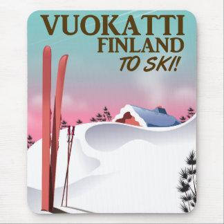 Vuokatti Finland ski poster Mouse Pad