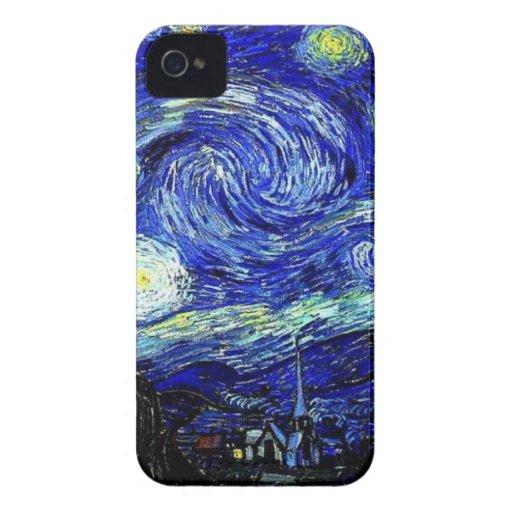 vVan Gogh Starry Night Fine Art iPhone 4 Case-Mate Cases