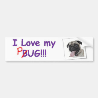 VW Fawn Pug Bumper Sticker