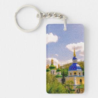 Vydubitsky Monastery. Kiev, Ukraine Single-Sided Rectangular Acrylic Key Ring