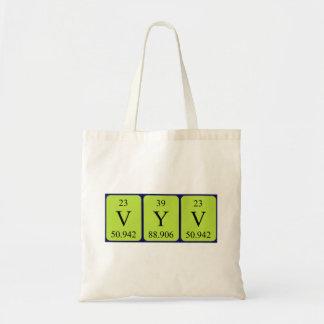 Vyv periodic table name tote bag