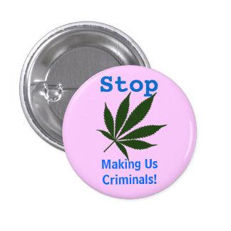 W01 Stop Making Us Criminals! 3 Cm Round Badge