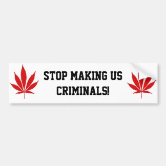 W02 Pot Leaf Bumper Sticker