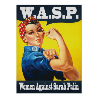W.A.S.P. - Women Against Sarah Palin Poster