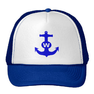 W Anchor Wanchor Insult Funny Gift Hats