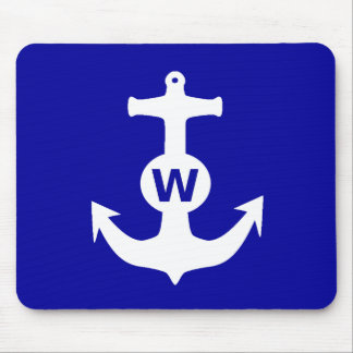 W Anchor Wanchor Insult Funny Gift Mousepad